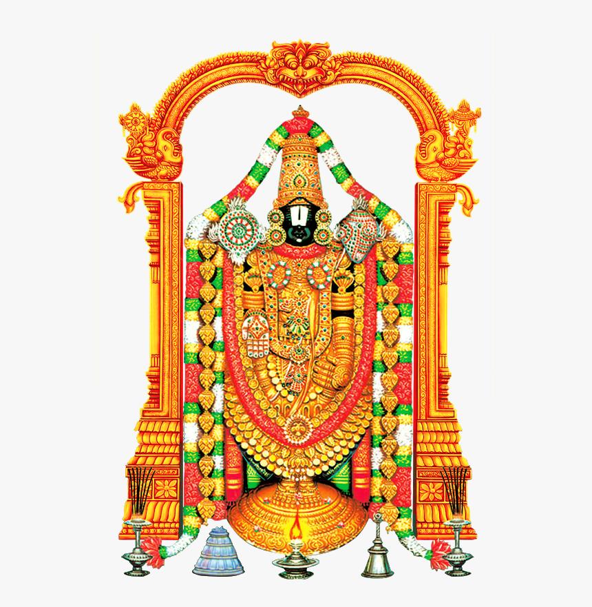 Lord Tirupati Venkateswara And Lord Vishnu Transparent, HD Png Download, Free Download