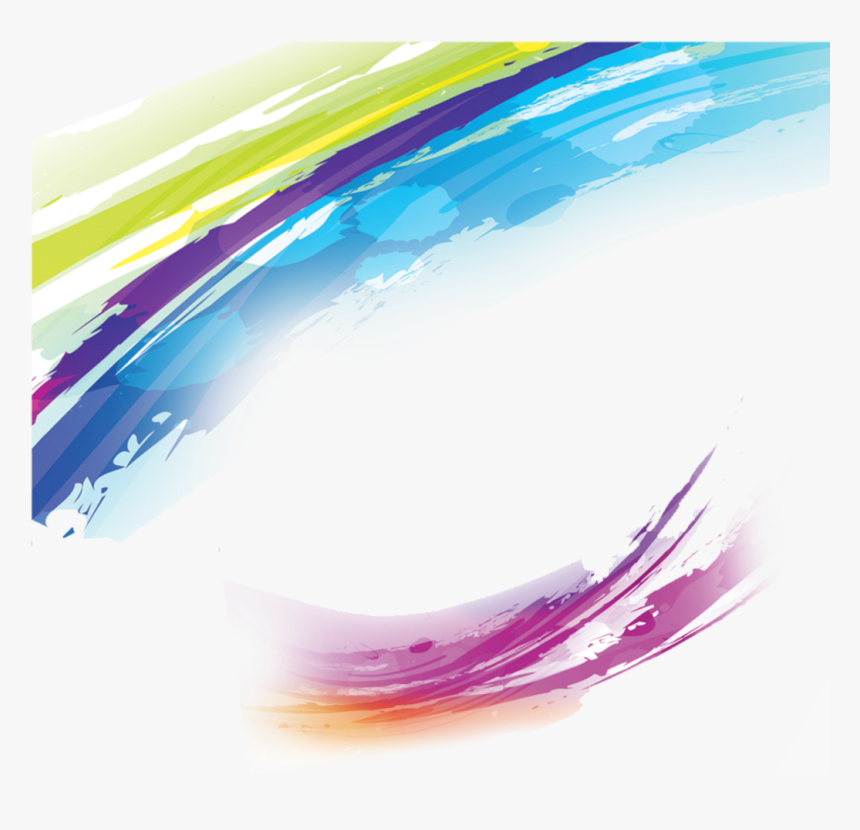 Ftestickers Watercolor Swirls Brusheffect Colorful - Watercolor Swirl Png, Transparent Png, Free Download
