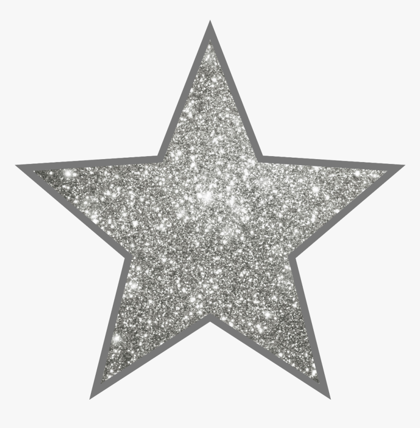 Star Silver Glitter Starstickers - Gold Star Sticker Meme, HD Png Download, Free Download