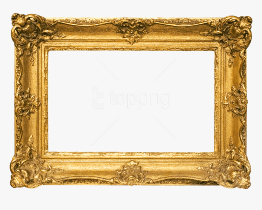 Free Png Best Stock Photos Classic Gold Frame Background - Classic Gold Frame Png, Transparent Png, Free Download