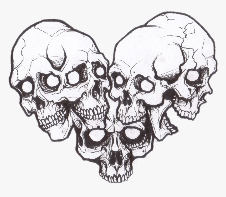 Heart Made Of Skulls - Skull Made Of Skulls, HD Png Download, Free Download