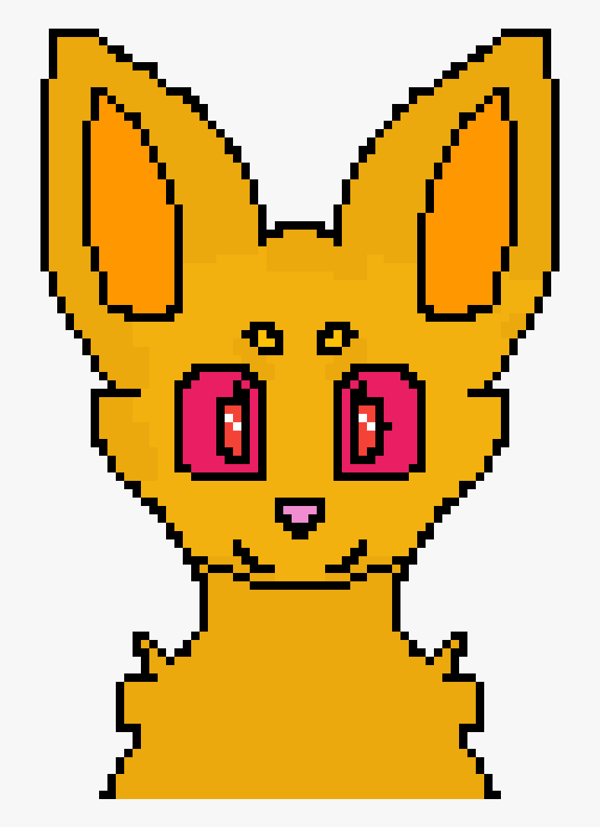 Transparent Anime Cat Ears Png - Blank Fox Pixel Art, Png Download, Free Download