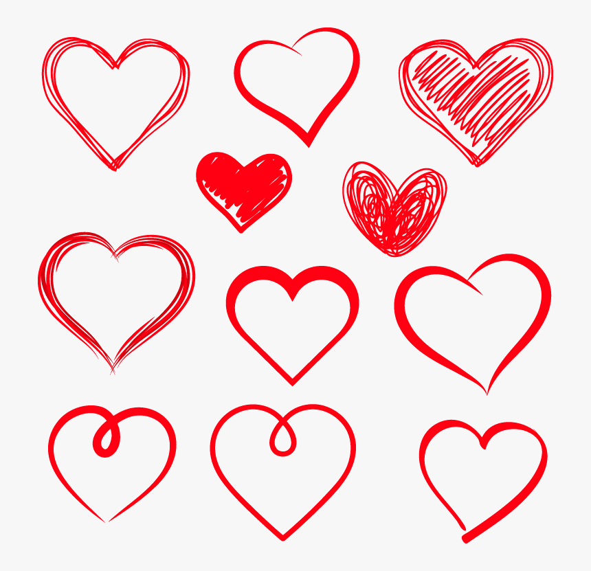 Drawing Heart Royalty - Heart Hand Drawing Vector, HD Png Download, Free Download
