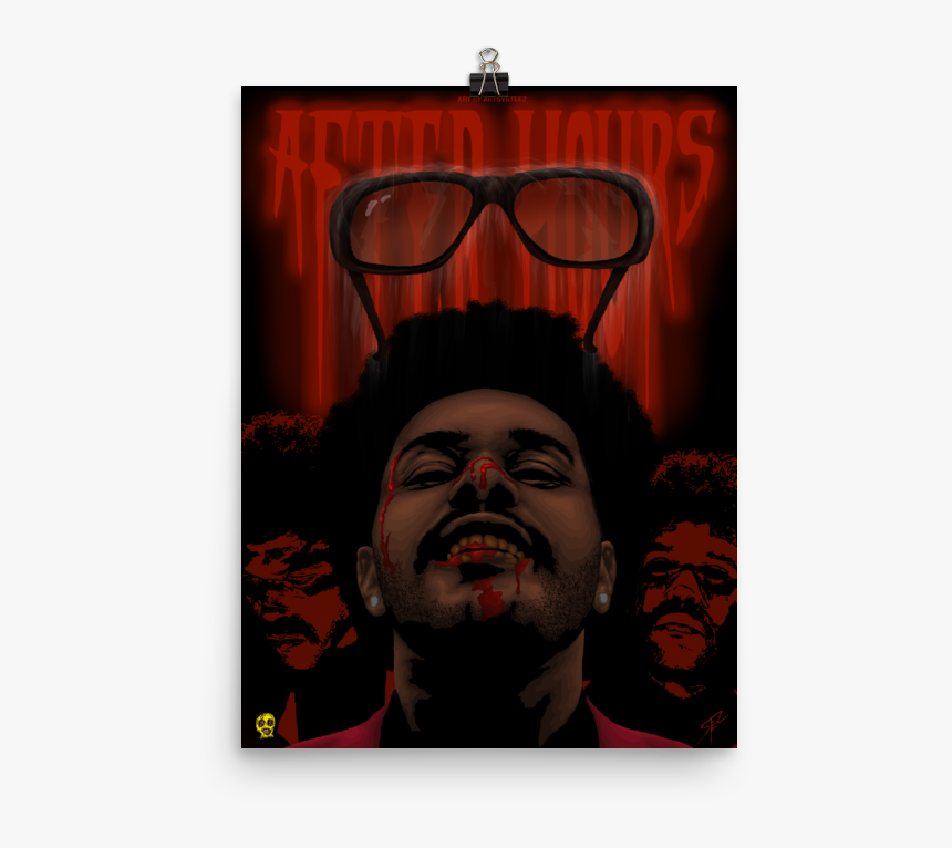 """Image Of The Weeknd """"after Hours"""" Premium Luster Poster - Poster, HD Png Download, Free Download"""