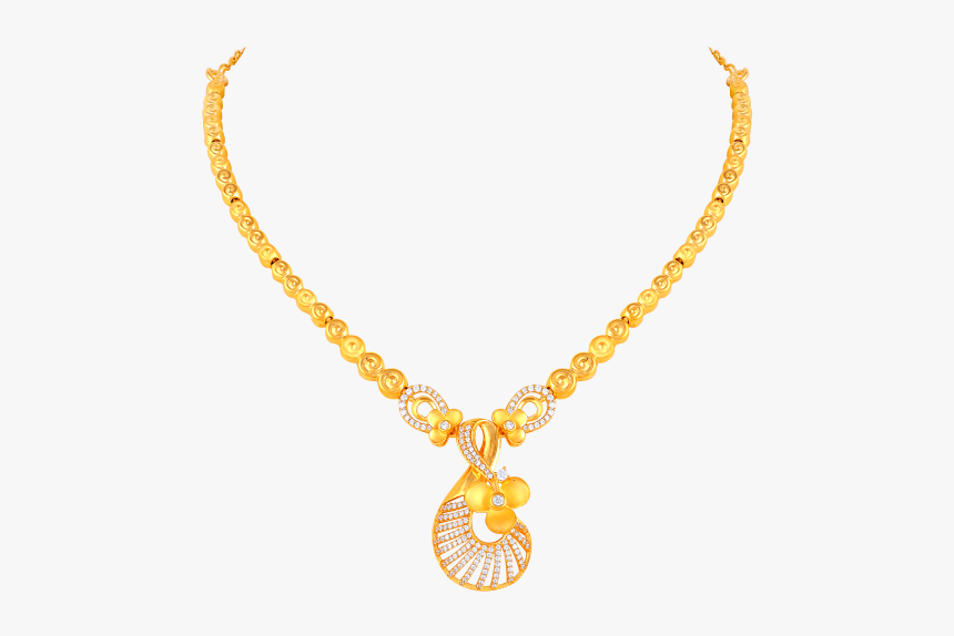 Gold Dollar Sign Chain Png - Necklace, Transparent Png, Free Download