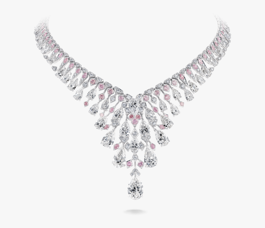 Chrysalis Necklace Crafted With - Pink And White Diamond Necklace, HD Png Download, Free Download