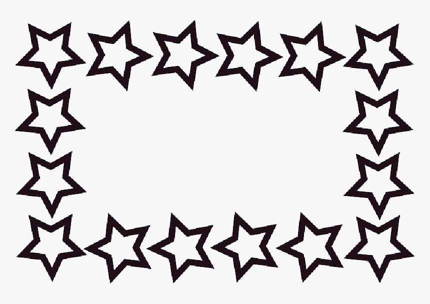 Rectangle, Stars, Frame, Border - Star Border Clip Art, HD Png Download, Free Download