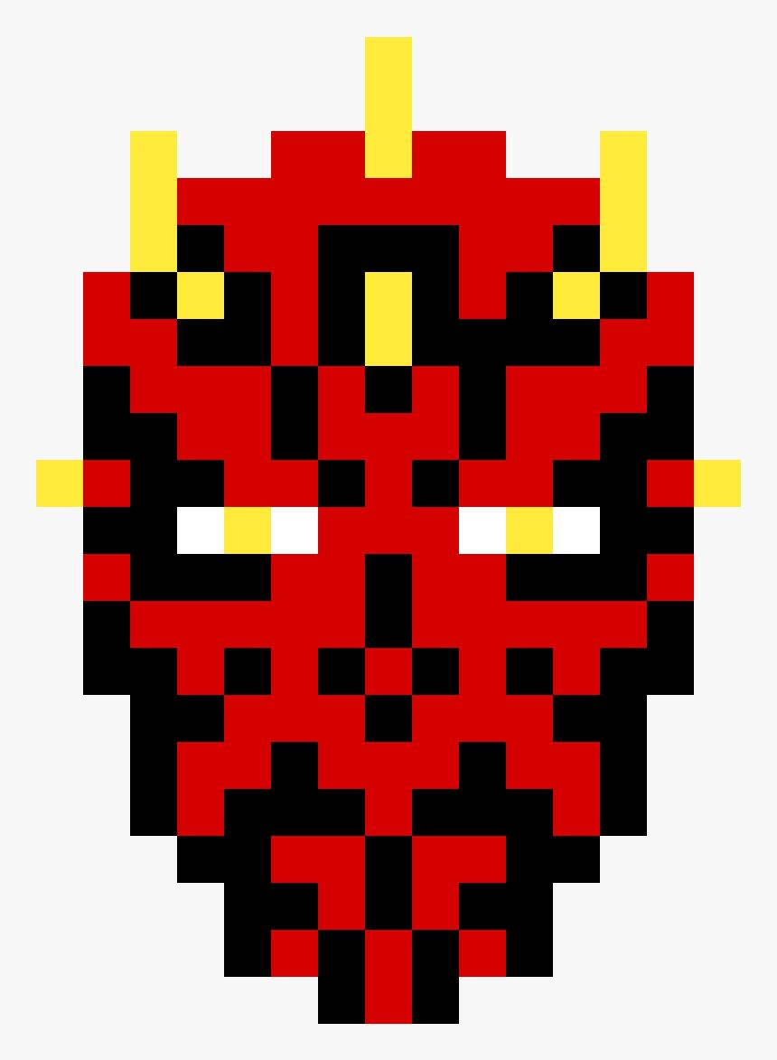 Besd Perler Darth Maul , Png Download - Star Wars Minecraft Pixel Art, Transparent Png, Free Download