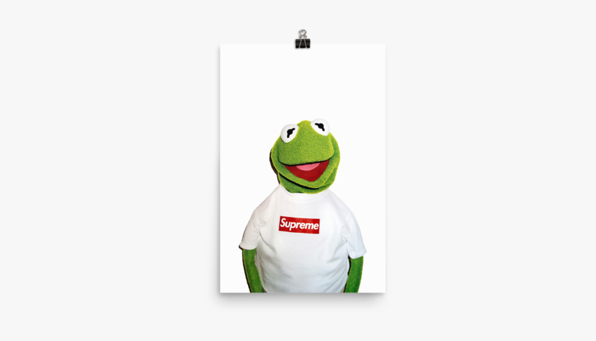 Transparent Supreme Kermit The Frog - Supreme Kermit, HD Png Download, Free Download