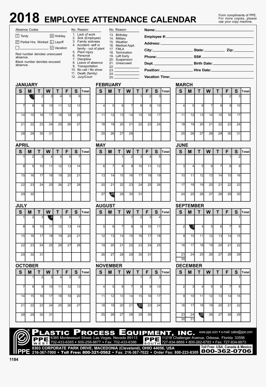 2022 Attendance Calendar Printable Free.Employee Attendance Calendar Excel 2020 Employee Attendance Calendar Hd Png Download Kindpng