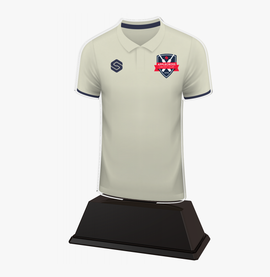 Cricket Custom White Shirt Acrylic Trophy - Polo Shirt, HD Png Download, Free Download