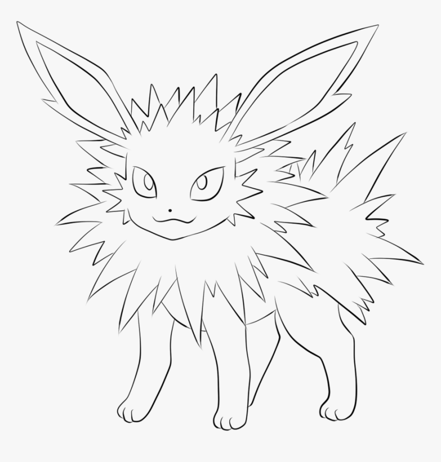 Pokemon Sylveon Coloring Pages - Jolteon Pokemon Eevee Evolutions Coloring  Pages, HD Png Download - Kindpng
