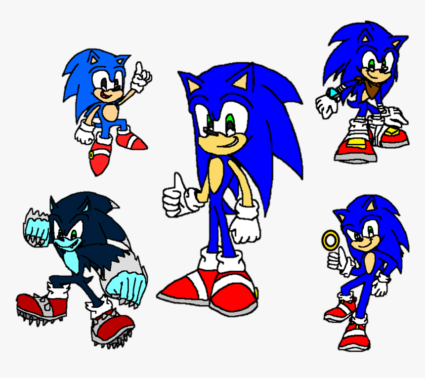 Sonic The Hedgehog Classic Modern Werehog Boom And Classic Sonic And Modern Sonic And Sonic Boom Hd Png Download Kindpng