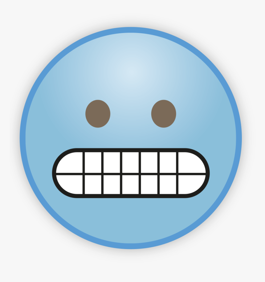 Sky Blue Emoji Png Photos - Grimacing Face Emoji Printable, Transparent Png, Free Download