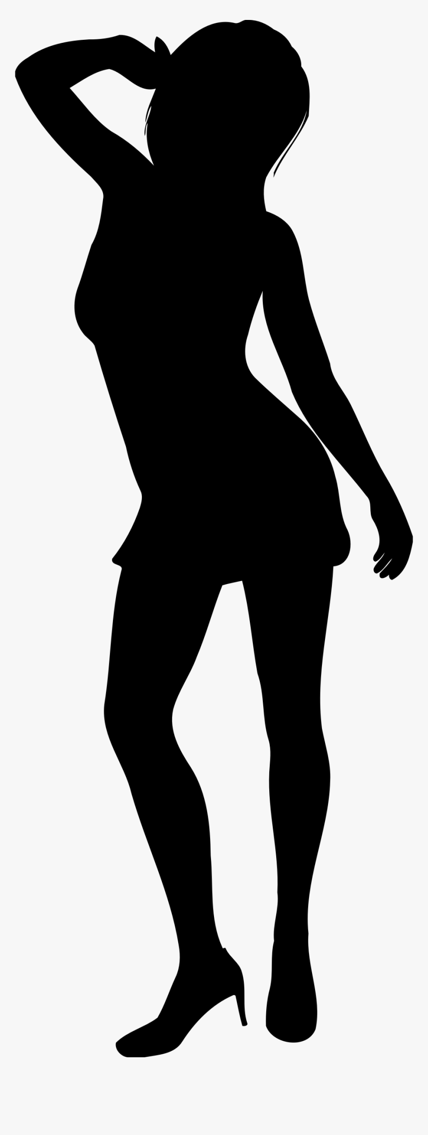 Transparent Waist Clipart - Silhouette Model Poses Png, Png Download, Free Download