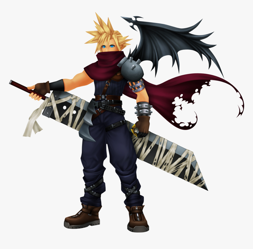 Cloud Strife Kingdom Hearts, HD Png Download, Free Download