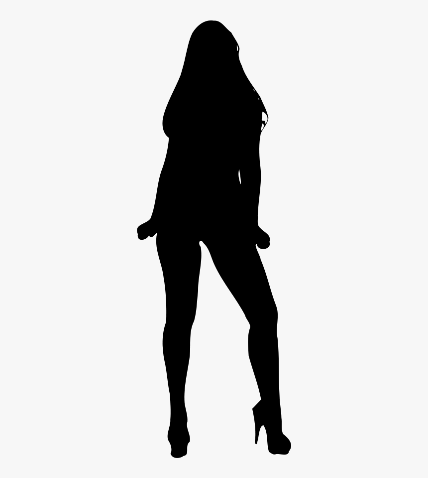 Woman Silhouette Colouring Pages - Women Model Silhouette Png, Transparent Png, Free Download