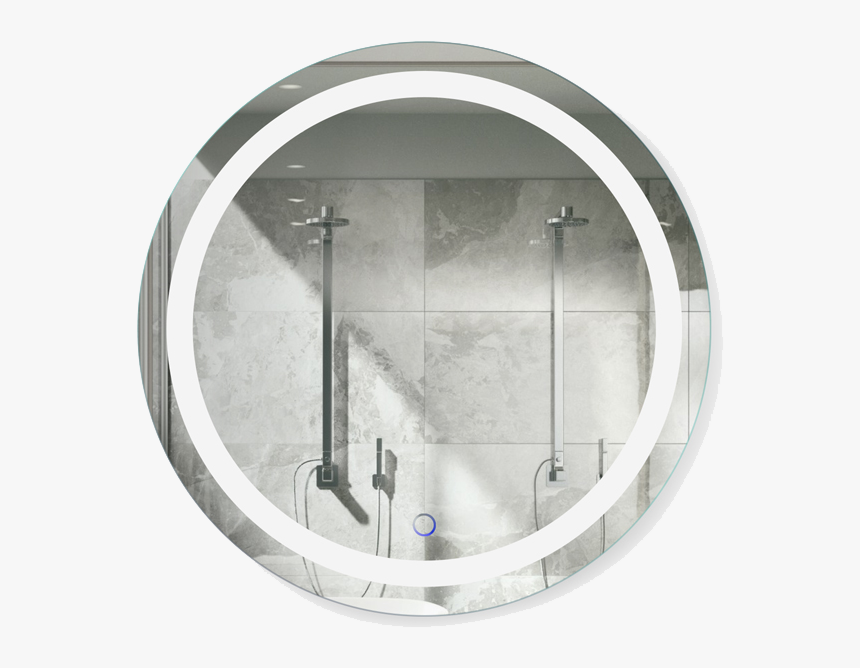Large Img - Round Led Mirror Png, Transparent Png, Free Download