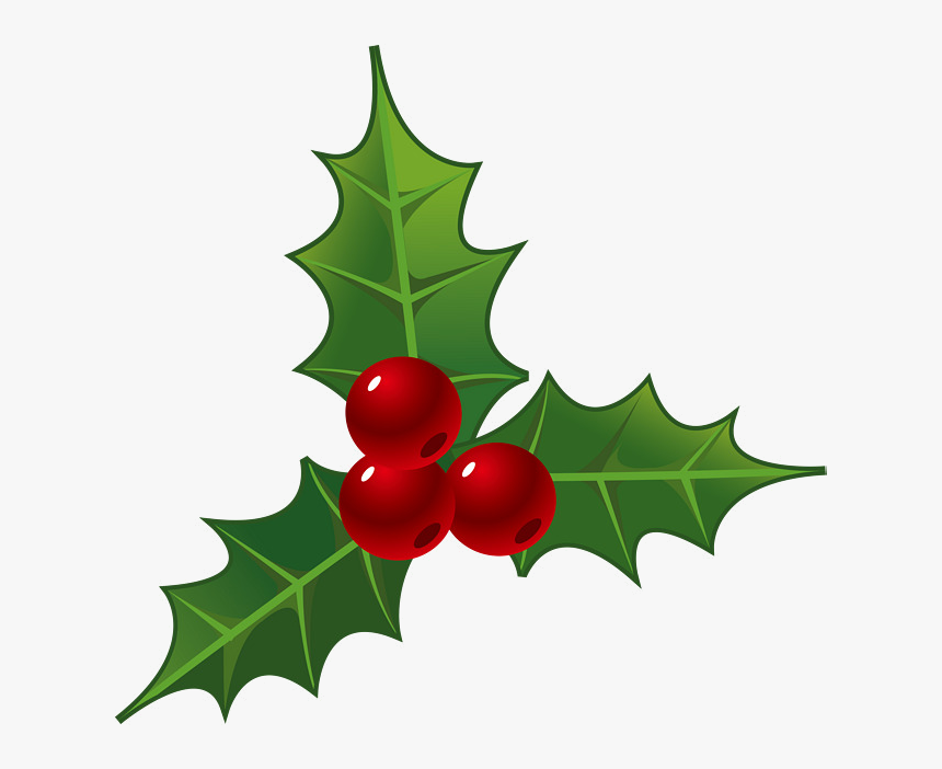 Holly Leaf Christmas Leaves Decorations For Clipart - Christmas Decorations Png, Transparent Png, Free Download