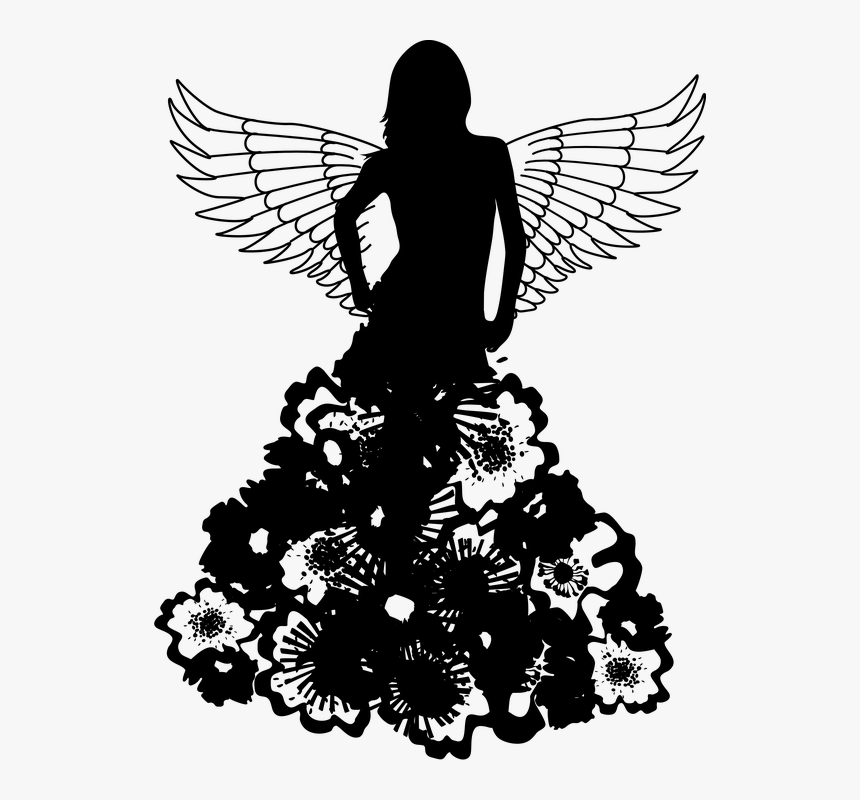 Fashion Dress Silhouette , Png Download - Girl In Gown Silhouette Png, Transparent Png, Free Download