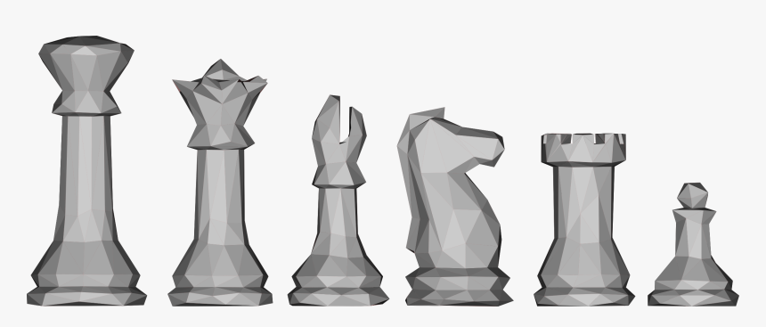 Transparent Game Piece Png - Low Poly Chess Pieces, Png Download, Free Download