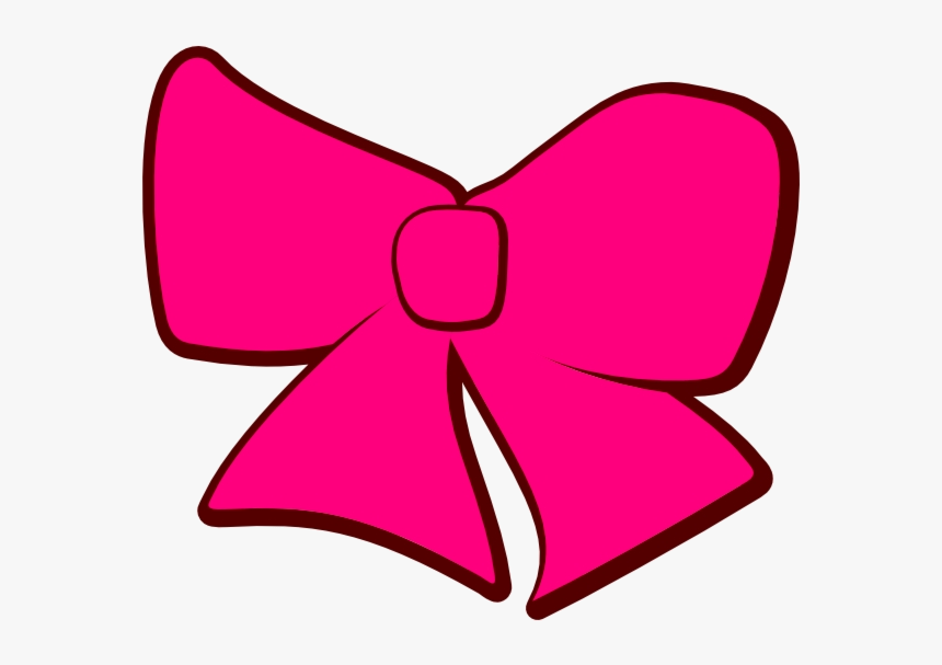 Christmas Bow Green Cartoon Clipart Pink Tie Transparent - Pink Bow Tie Clip Art, HD Png Download, Free Download