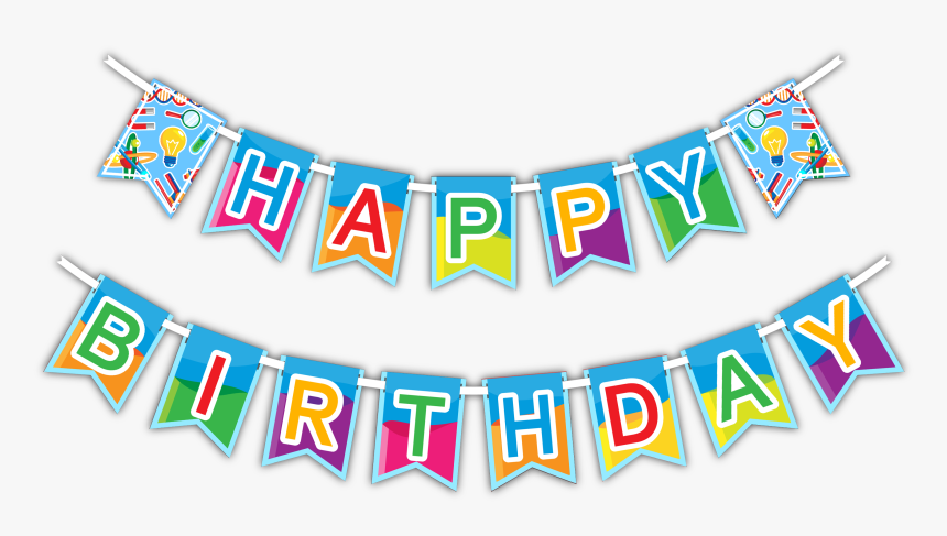 """Super Science """"happy Birthday - Banner Happy Birthday Ribbon, HD Png Download, Free Download"""