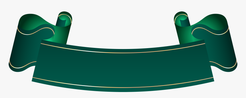 Green Banner Transparent Clip Artu200b Gallery Yopriceville - Blue Ribbon Banner Png, Png Download, Free Download