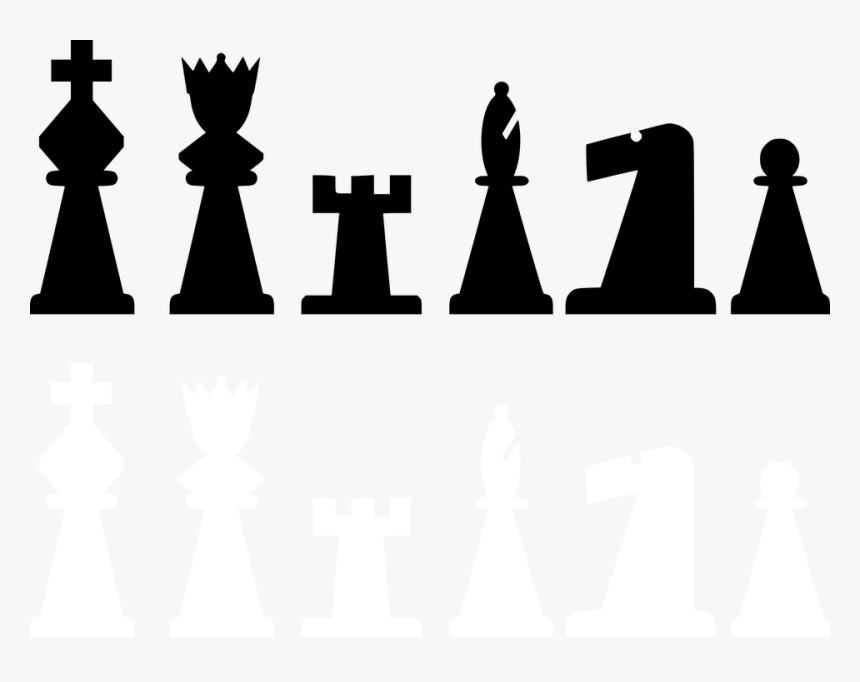 Chess Piece Bishop Knight King - Chess Pieces 2d Png, Transparent Png, Free Download