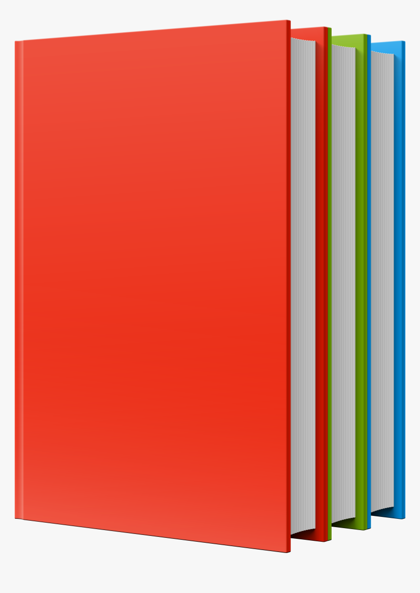 Red Green Blue Books Png Clipart - Png Format Books Png, Transparent Png, Free Download