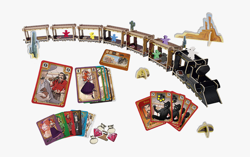 Game Components, Game Bits, Game Pieces - Colt Express Board Game, HD Png Download, Free Download