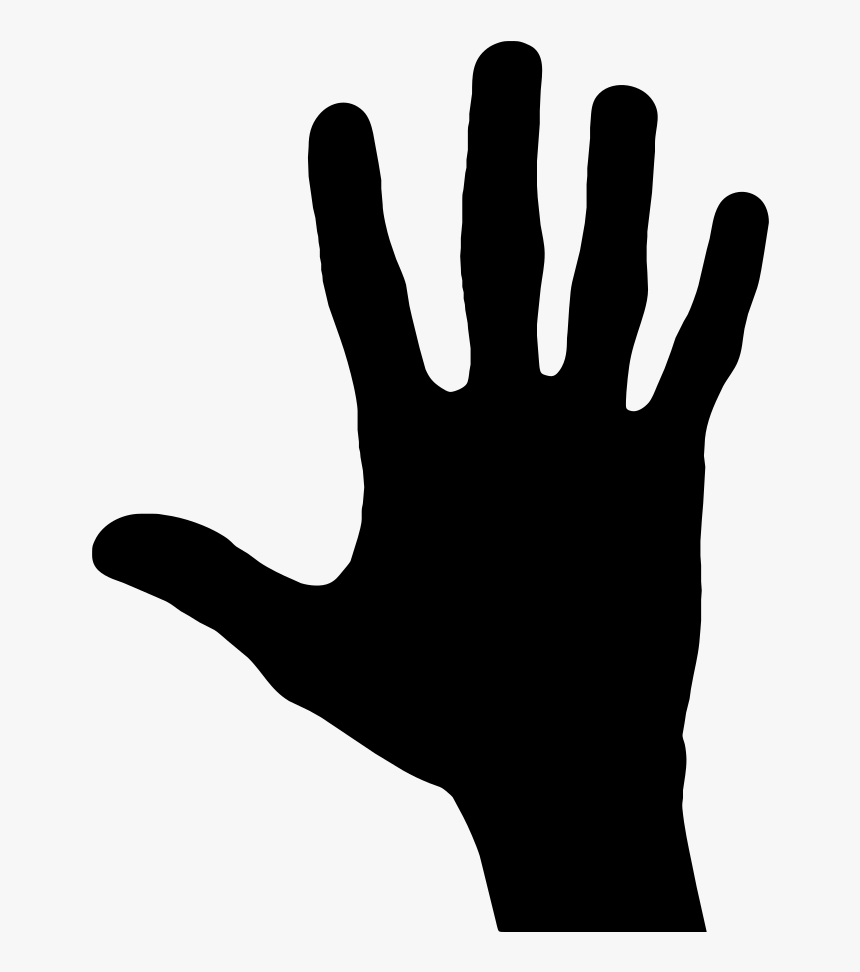Hand Silhouette Vector Graphics - Clip Art Hand Silhouette Hand, HD Png Download, Free Download