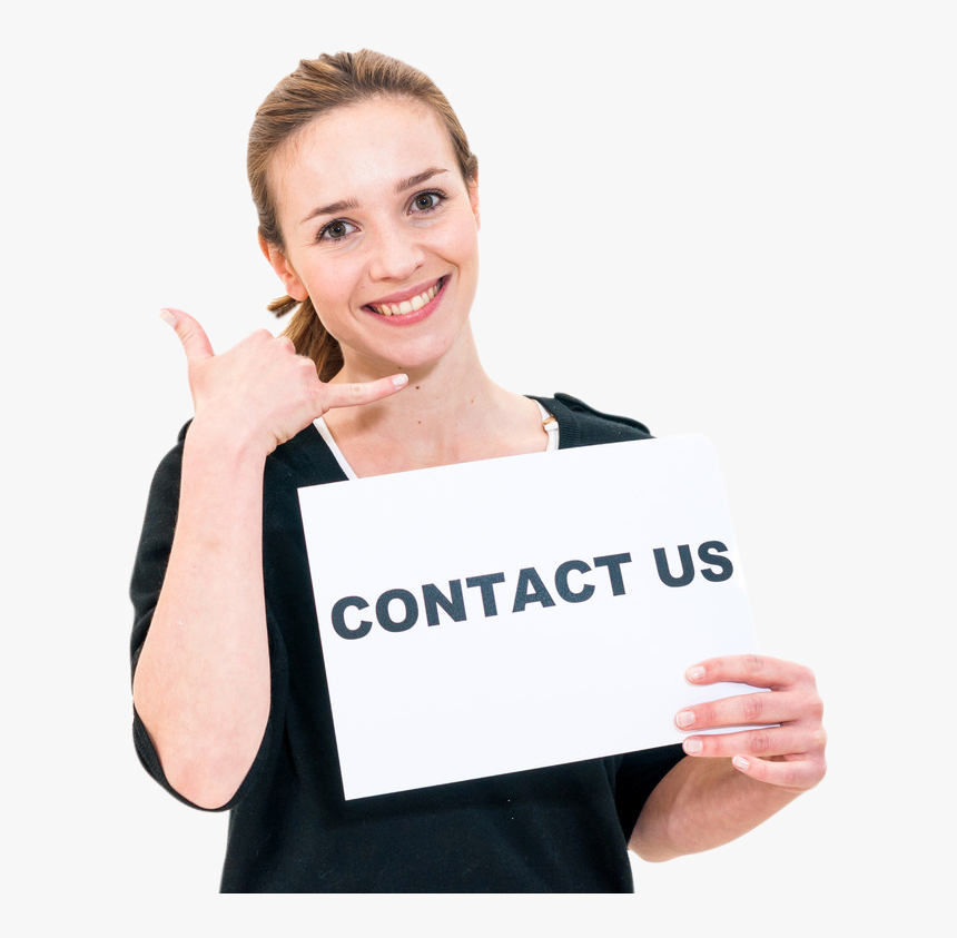 Contact Us Girl Png, Transparent Png, Free Download