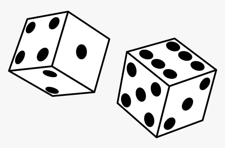 Clip Art Board Game Clipart Black And White Dice Black And White Hd Png Download Kindpng