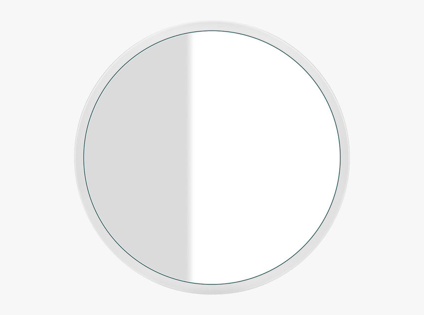 Gessi Cono Cono Round Wall Mounted Mirror With White - Round Bathroom Mirror Australia, HD Png Download, Free Download