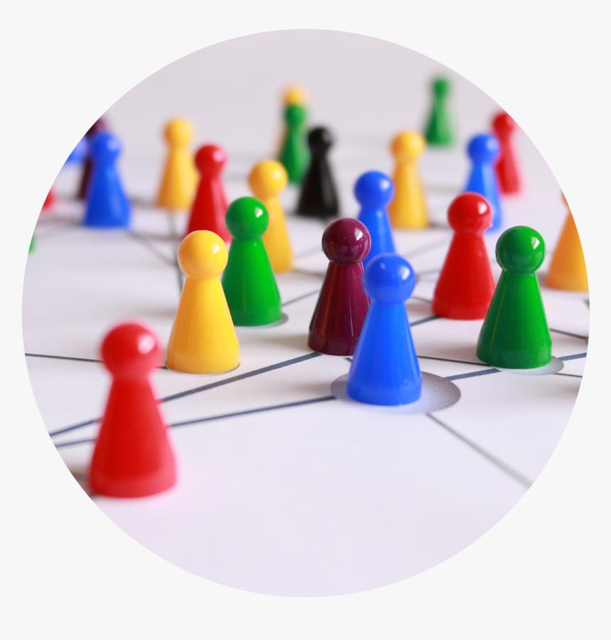 Colorful Boardgame Pieces - Formar Un Equipo De Trabajo, HD Png Download, Free Download