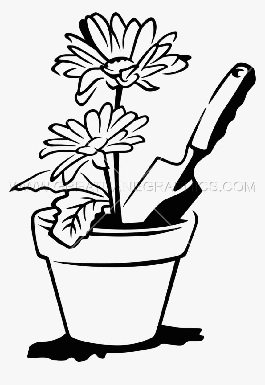 Drawn Vase Line Drawing - Clip Art Flower Pots, HD Png Download, Free Download