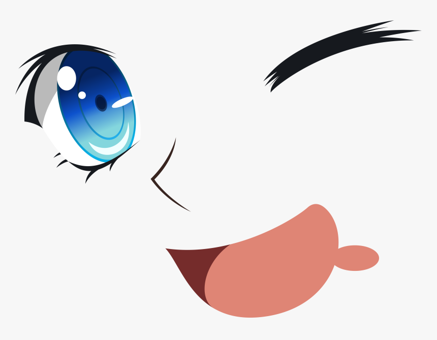 Cartoon Eyes And Mouth Transparent Anime Eyes And Mouth Hd Png Download Kindpng