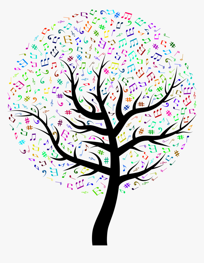 Transparent Music Notes Png - Music Tree Free Clipart, Png Download, Free Download