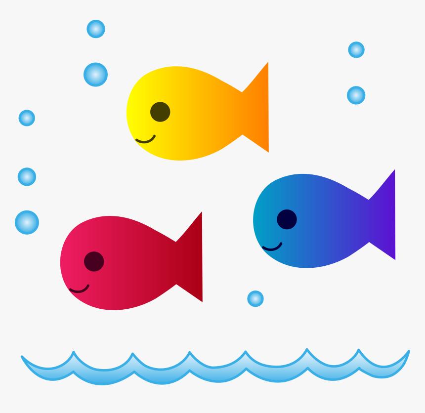 School Of Fish Png Clipart - Cartoon School Of Fish, Transparent Png, Free Download