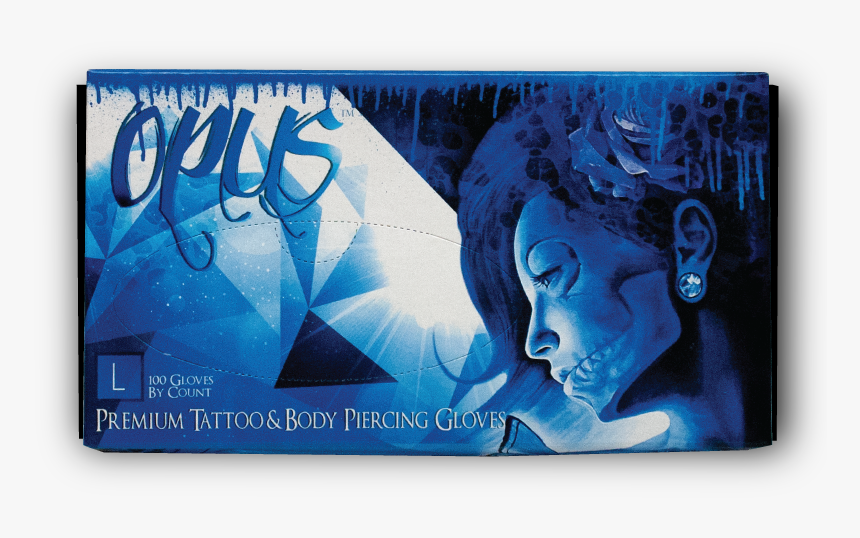 """Opus Tattoo Nitrile Gloves, Box, Large""""  Class=""""lazyload - Graphic Design, HD Png Download, Free Download"""