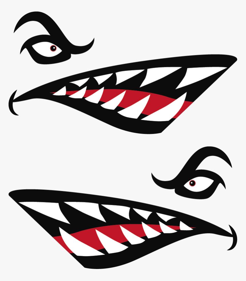 Shark Teeth Decal, HD Png Download, Free Download