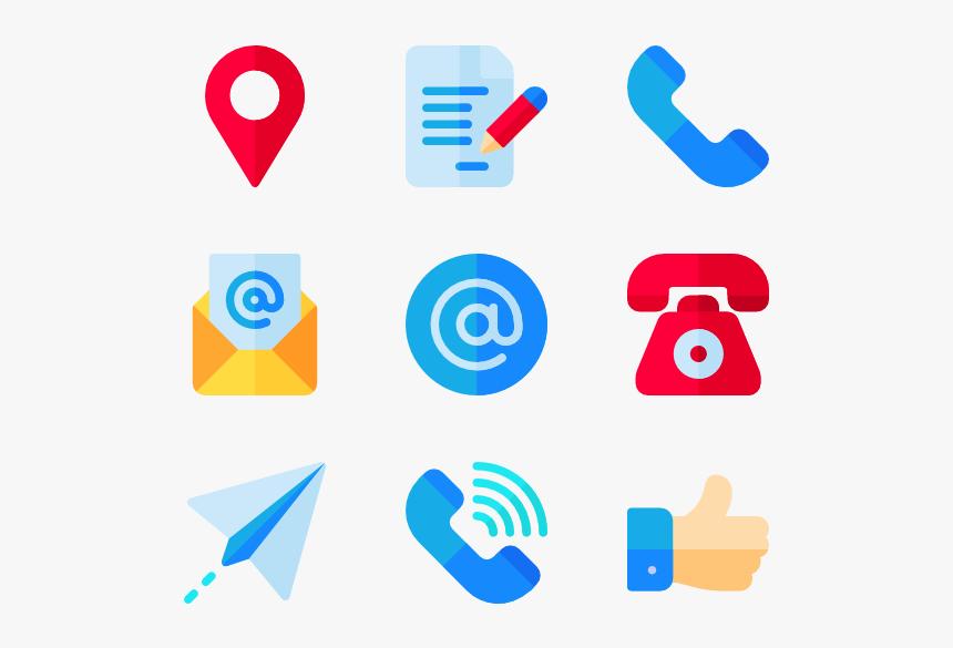 Design - Contact Us Social Media Icons Png, Transparent Png, Free Download