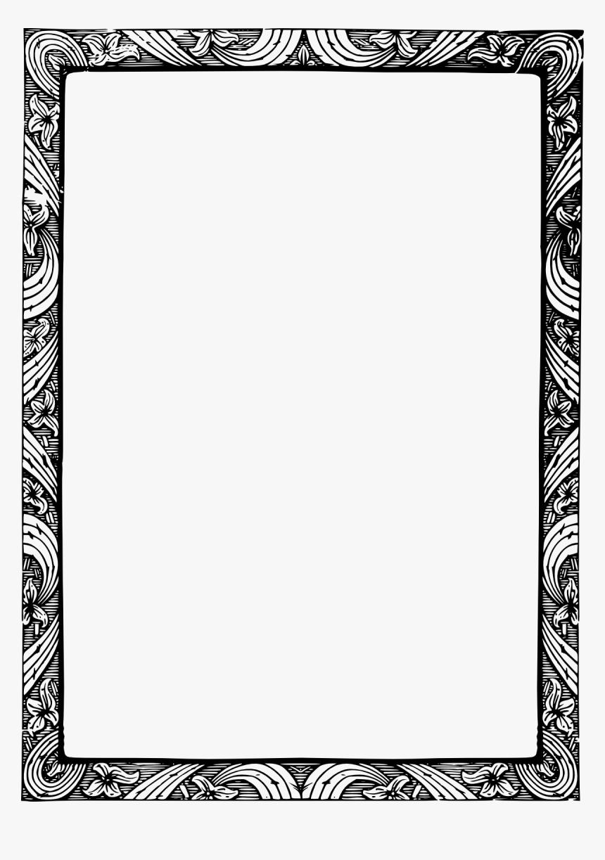 Bildergebnis Für Png Transparent Border - Elegant Border Design Black And White Landscape, Png Download, Free Download
