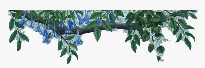 Jungle Border Png File - Blue Flowers Border Png, Transparent Png, Free Download
