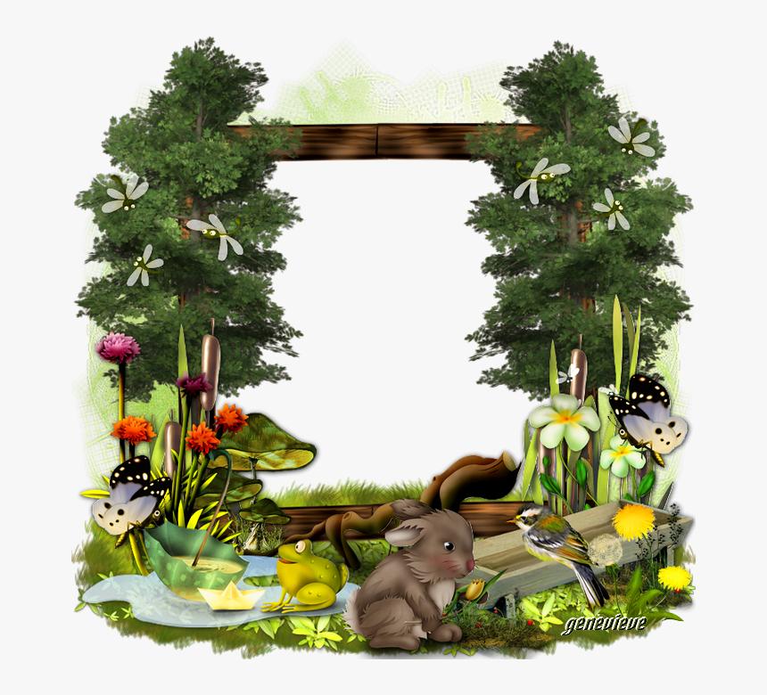 660570clusterlibellule - Png Cartoon Jungle Frame, Transparent Png, Free Download