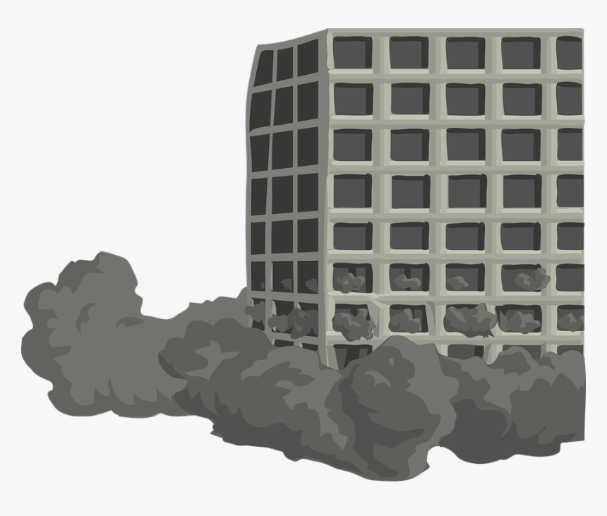 Building, Tower, Torn, Down, Destroy, Destruction - Building Falling Png, Transparent Png, Free Download