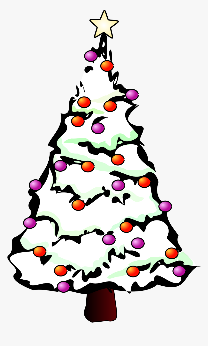 Christmas Tree Black And White Christmas Tree Clipart - Hd Christmas Tree White Background, HD Png Download, Free Download