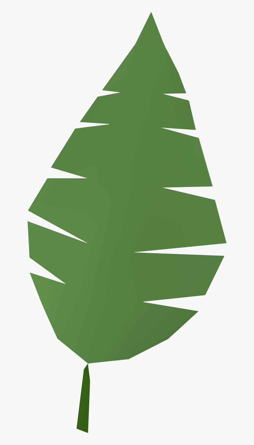 Palm Tree Leaf Cartoon, HD Png Download, Free Download