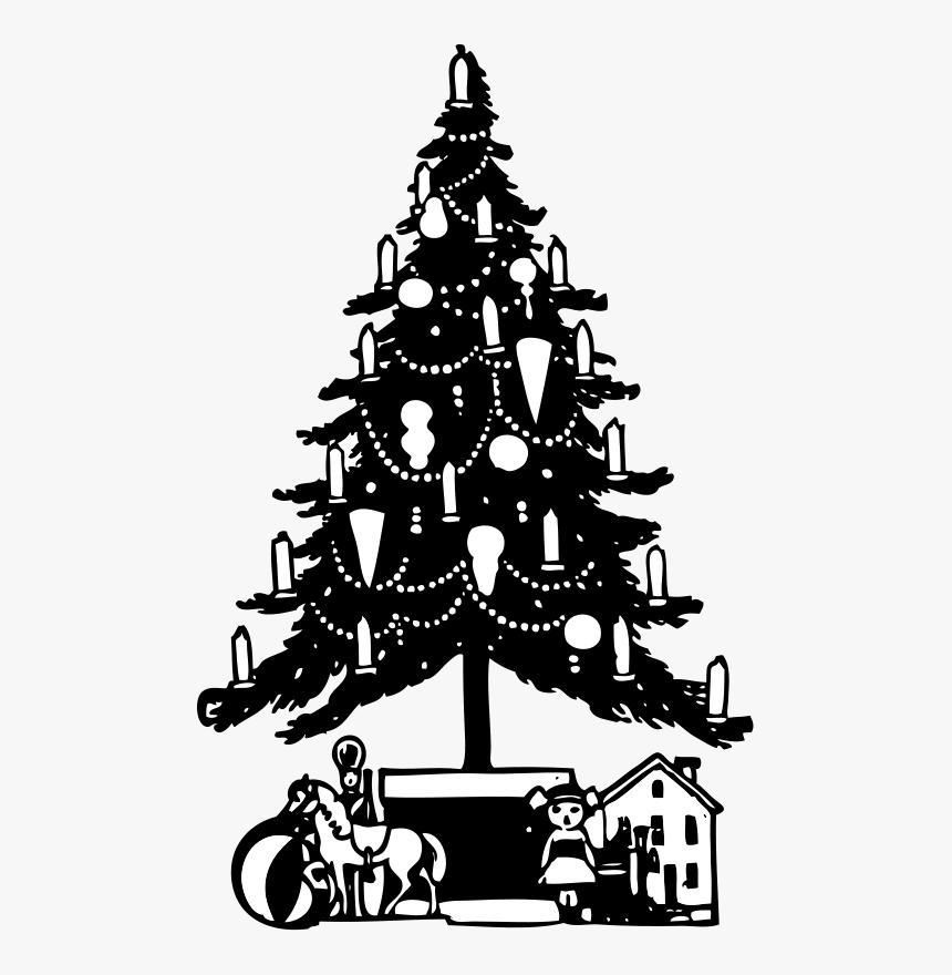 Transparent Christmas Tree Illustration Png - Christmas Tree Black Png, Png Download, Free Download